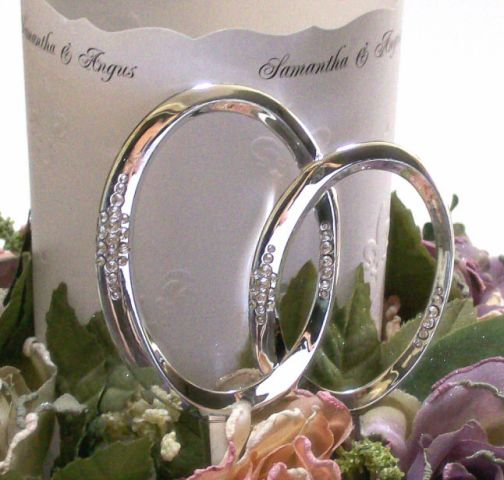 Wedding Cake Toppers Double Rings Band Wedding Cake Toppers